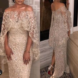 Custom made dress with cape size 10 light gold